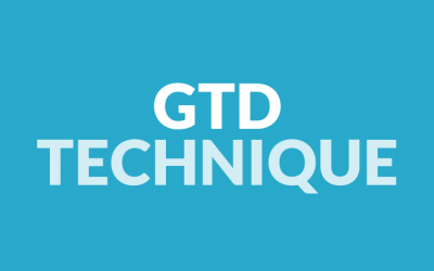 GDT technique (getting things done)